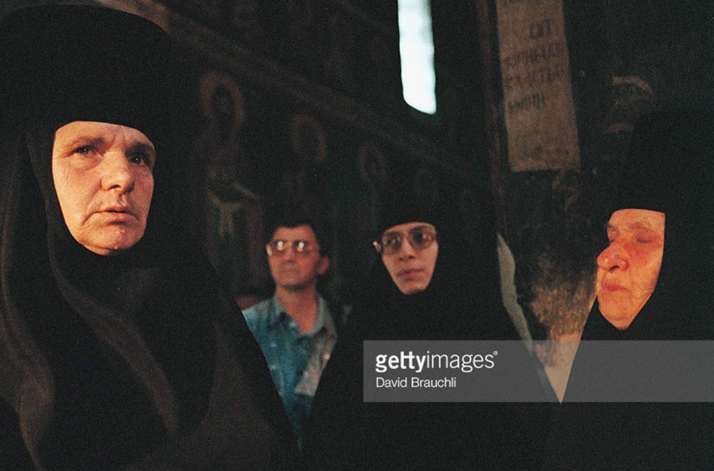Orthodox Nuns in Gracanica Monastery, Kosovo