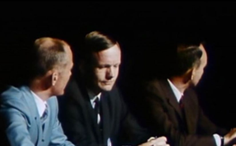 Apollo 11 Commander Neil Armstrong, Lunar Module Pilot Edwin Aldrin and Command Module Pilot Michael Collins