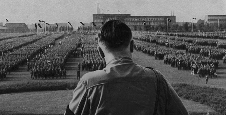 Adolf Hitler addresses rally of SA troops in Dortmund 1933
