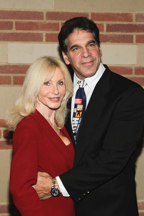 Lou Ferrigno and wife