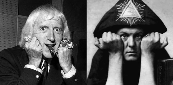 Savile and Crowley share poses