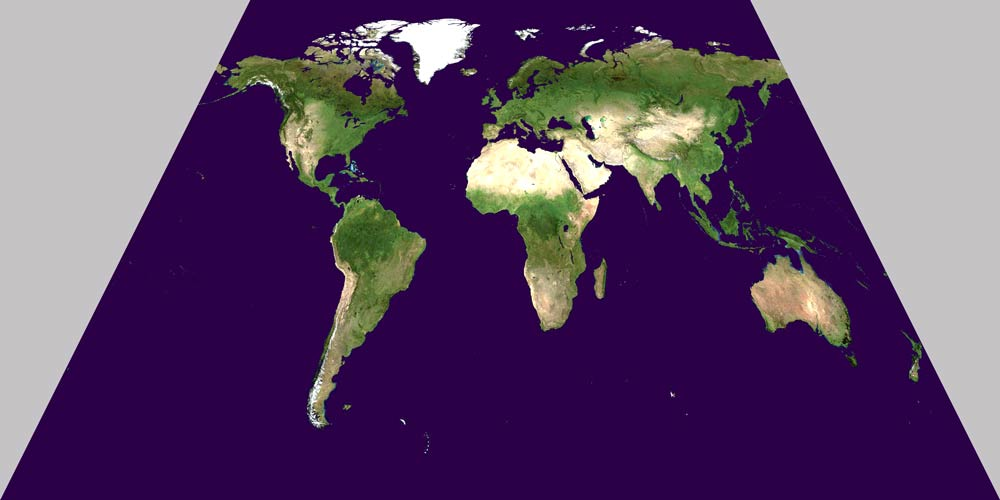 North Hemisphere as the centre of the Planar model